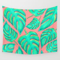 palms Wall Tapestries featuring Palms by Anika Kirk