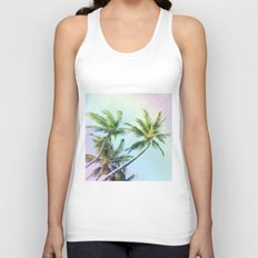 Relaxing Rainbow Color Palms Unisex Tank Top