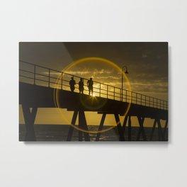 Sunset at Gleneig jetty Metal Print