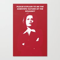 dana scully Canvas Prints featuring Dana Scully - Whammy by Laura