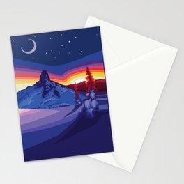 Black Tusk Sunset Stationery Cards