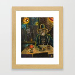 Lester Dines At The Mai Kai Framed Art Print