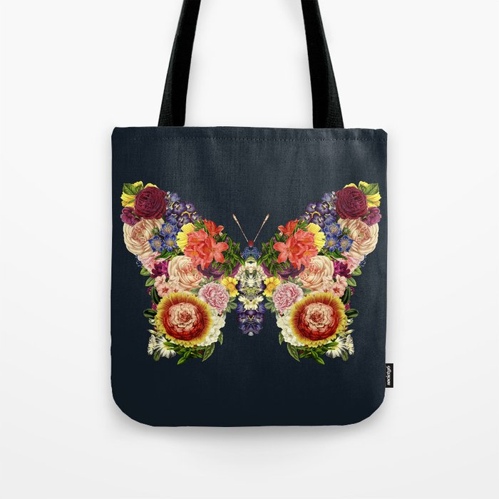 Spring Butterfly Floral Tote Bag