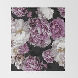 Peony blooms Throw Blanket