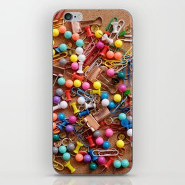 Assortment of stationery iPhone Skin