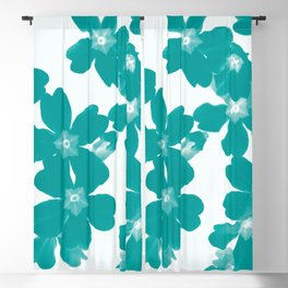 Floral Teal Blackout Curtain