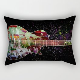 Sounds of music. Colorful guitar. Rectangular Pillow