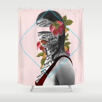 pain Shower Curtains featuring Pain by Cristina Guerrero