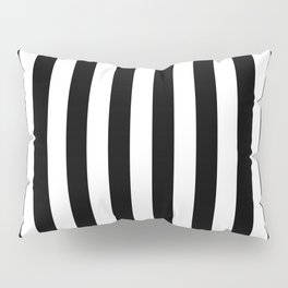 Abstract Black and White Vertical Stripe Lines 10 Pillow Sham