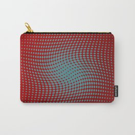Polka dots with a twist (red) Carry-All Pouch