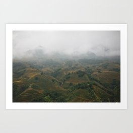 The Magic Mountains of Sapa Art Print