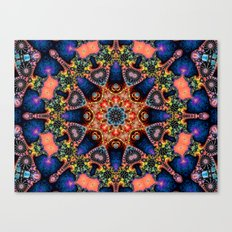 BBQSHOES: Kaleidoscopic Fractal Digital Art Design 1702K Canvas Print