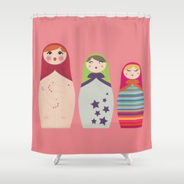 Russians Dolls whoops !  Shower Curtain
