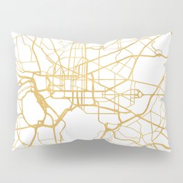 WASHINGTON D.C. DISTRICT OF COLUMBIA CITY STREET MAP ART Pillow Sham