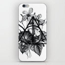 black flowers iPhone Skin