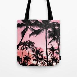 Tropical Trees Silhouette Tote Bag