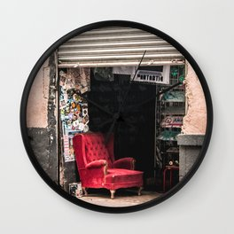 The red chair Wall Clock