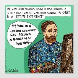 """Saturday Post"" Van Gogh cartoon Canvas Print"