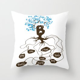 Be You See Why Series B Throw Pillow