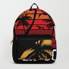 La Gomera Palm Tree Holiday Motif Gift Idea Design Backpack