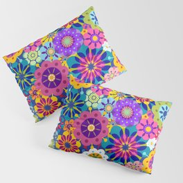 Retro Garden Pillow Sham