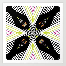 Neon Tribal Art Print