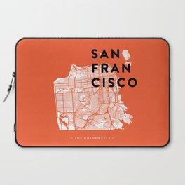 San Francisco Map 04 Laptop Sleeve