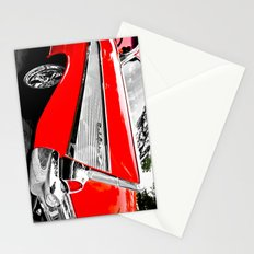 Chevrolet Bel Air Fin Red & Chrome Stationery Cards