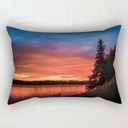 Evening on the river Rectangular Pillow