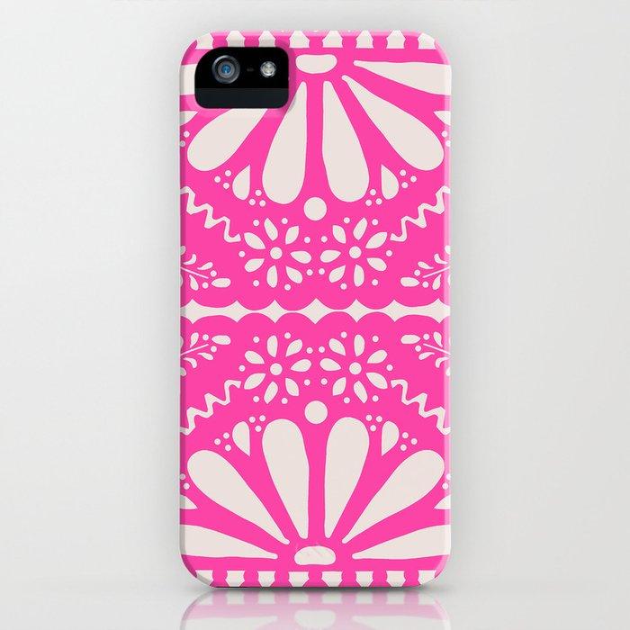 Fiesta de Flores Pink iPhone Case