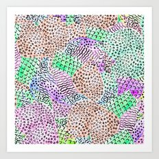 Modern abstract watercolor hand drawn pattern Art Print