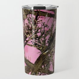 Pink browning deer glitter camo Travel Mug
