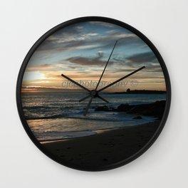 Sunrise over Bass Strait - Tasmania - Australia Wall Clock