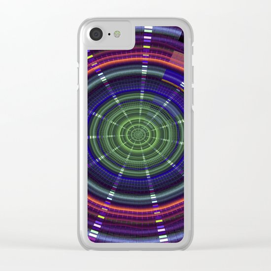 Dynamic mandala with tribal patetrns Clear iPhone Case