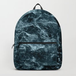 Enigmatic Deep Blue Ocean Marble #1 #decor #art #society6 Backpack