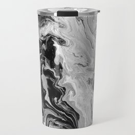 Black and White Marble Travel Mug