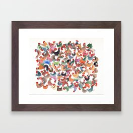 Chicken mess Framed Art Print