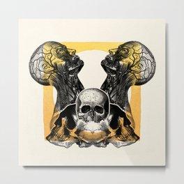 Skull Sunrise Metal Print