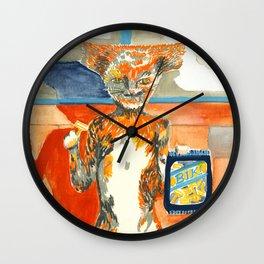 Hammerhead Cat Wall Clock