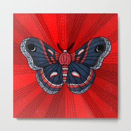 Cecropia Moth Metal Print