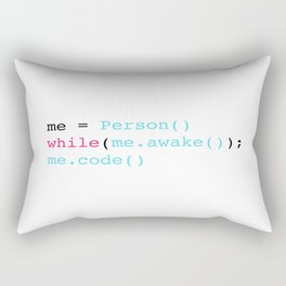 Keep coding Rectangular Pillow