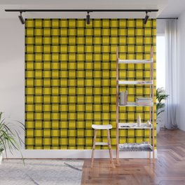 Small Gold Yellow Weave Wall Mural