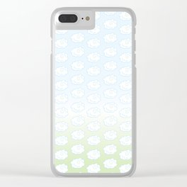 Floof Clouds Clear iPhone Case