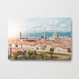 Palazzo Vecchio and Duomo S. Metal Print