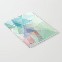 Delicate green polygonal pattern . Notebook