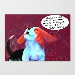 """Beagles say """"BAROO!"""" Canvas Print"""
