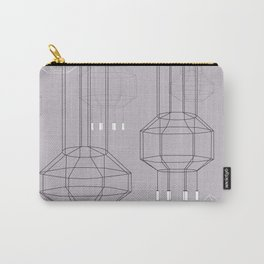 Geo Chandeliers - Pink Gray Carry-All Pouch