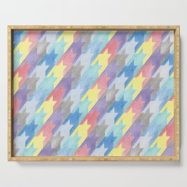 Multicoloured Houndstooth Serving Tray