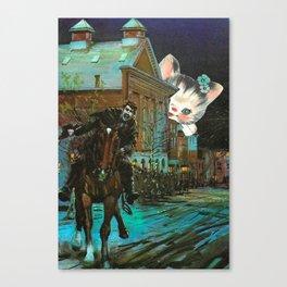 Death is cute kitten handcut collage Canvas Print