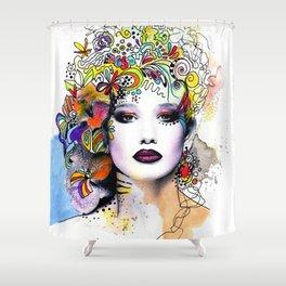 Fantasy Flower Girl Shower Curtain
